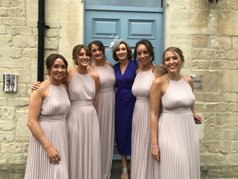 bridesmaid makeup airbrush glowing