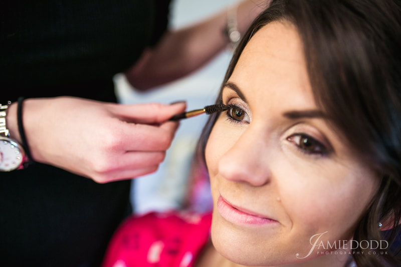 bridesmaid airbrush makeup